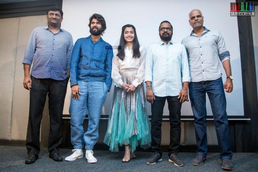 Vijay Deverakonda, Rashmika Mandanna At The 'Dear Comrade' Press Meet