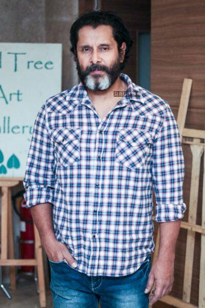 Vikram At The 'Mister KK' Pre Release Event