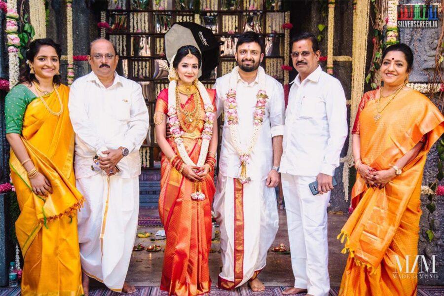Kalaipuli S Thanu At The Anand Shankar-Divyanka Wedding
