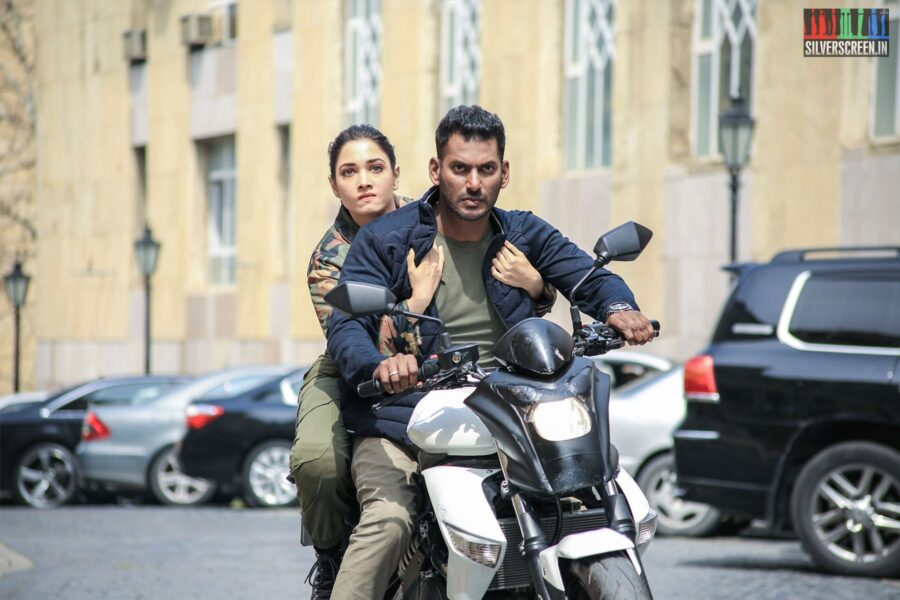 Action Movie Stills Starring Vishal, Tamannaah