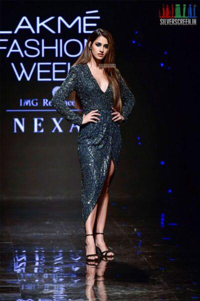 Disha Patani Walks The Ramp For Rahul Khanna & Rohit Gandhi At The Lakme Fashion Week 2019 - Day 4