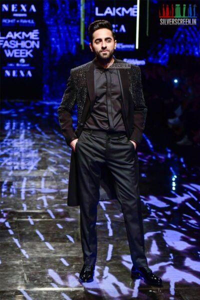 Ayushman Khurrana Walks The Ramp For Rahul Khanna & Rohit Gandhi At The Lakme Fashion Week 2019 - Day 4
