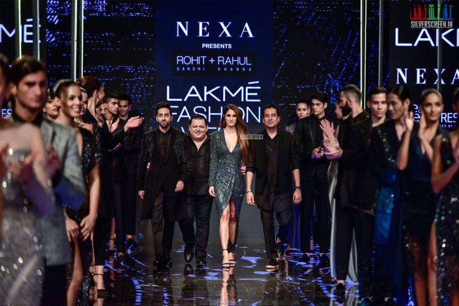 Disha Patani & Ayushman Khurrana Walks The Ramp For Rahul Khanna & Rohit Gandhi At The Lakme Fashion Week 2019 - Day 4