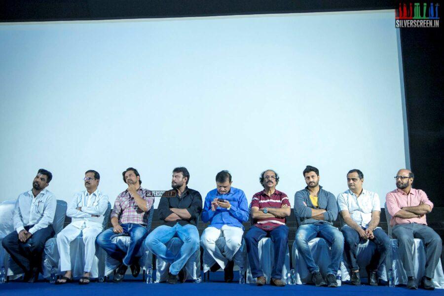Arjun, Kalaipuli S Thanu At The 'Kurukshethram' Press Meet