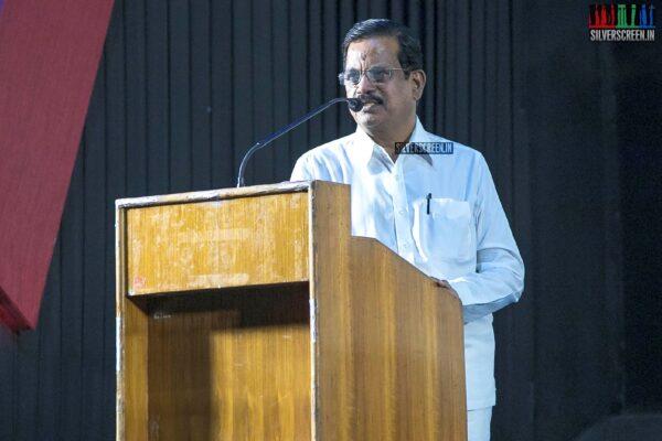 Kalaipuli S Thanu At The 'Kurukshethram' Press Meet