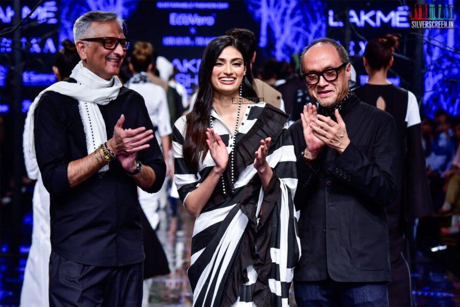 Athiya Shetty Walks The Ramp For Abraham & Thakore At The Lakme Fashion Week 2019 - Day 2