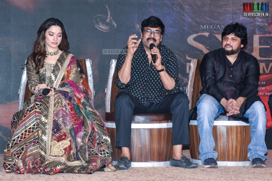 Chiranjeevi, Tamannaah At The 'Sye Raa Narasimha Reddy' Teaser Launch