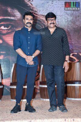 Chiranjeevi, Ram Charan At The 'Sye Raa Narasimha Reddy' Teaser Launch