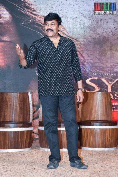 Chiranjeevi At The 'Sye Raa Narasimha Reddy' Teaser Launch