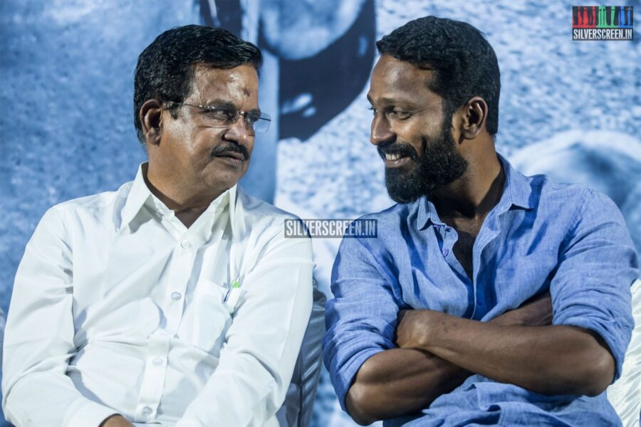 Kalaipuli S Thanu, Vetrimaaran At The 'Asuran' Audio Launch