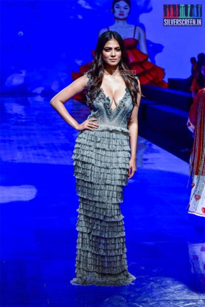 Malavika Mohanan Walks The Ramp For Pallavi Mohan At The Lakme Fashion Week 2019 - Day 1