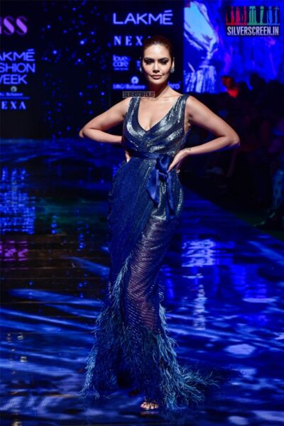 Esha Gupta Walks The Ramp For Pallavi Mohan At The Lakme Fashion Week 2019 - Day 1