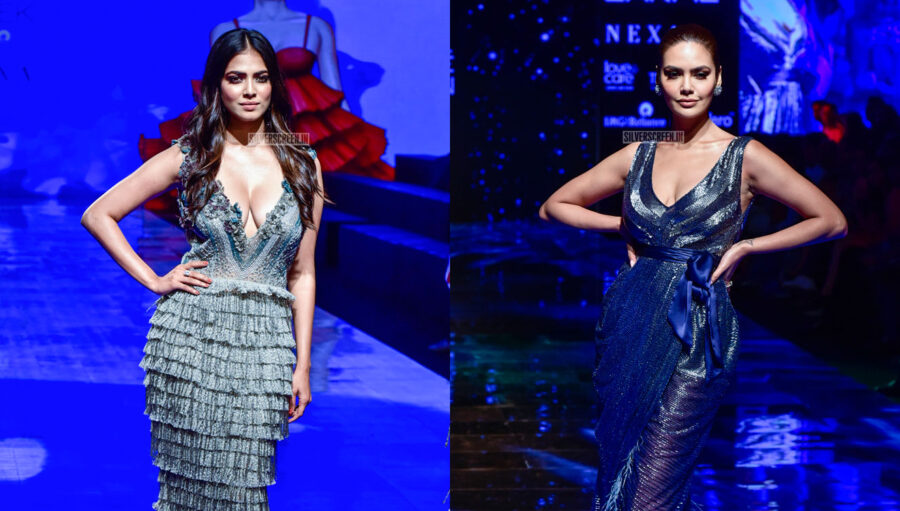Esha Gupta, Malavika Mohanan Walks The Ramp For Pallavi Mohan At The Lakme Fashion Week 2019 - Day 1