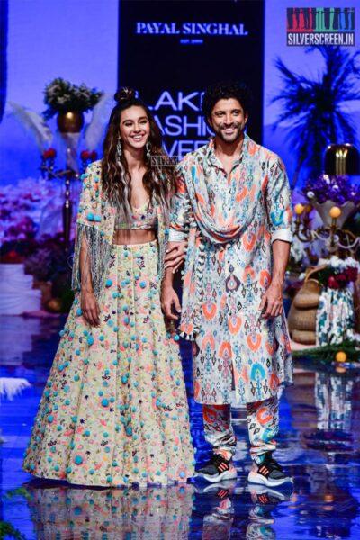 Farhan Akhtar, Shibani Dandekar Walk The Ramp For Payal Sinhal At The Lakme Fashion Week 2019 - Day 1