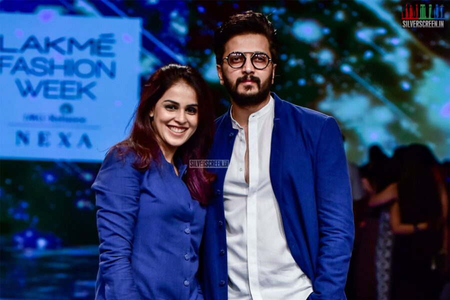 Genelia D'Souza, Riteish Deshmukh Walk The Ramp For Antar-Angni At The Lakme Fashion Week 2019 - Day 2