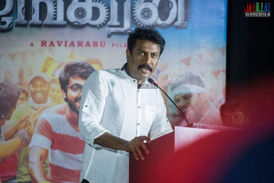 Samuthirakani At The 'Ayngaran' Audio Launch