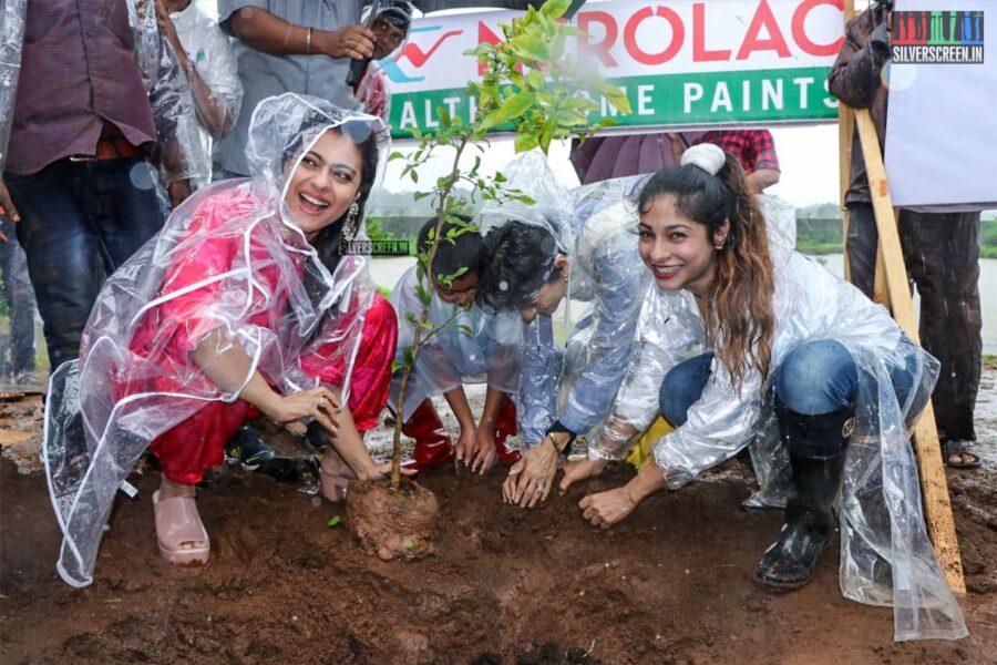 Tanishaa Mukerji, Kajol At The Earth Renewal Project By Stamp