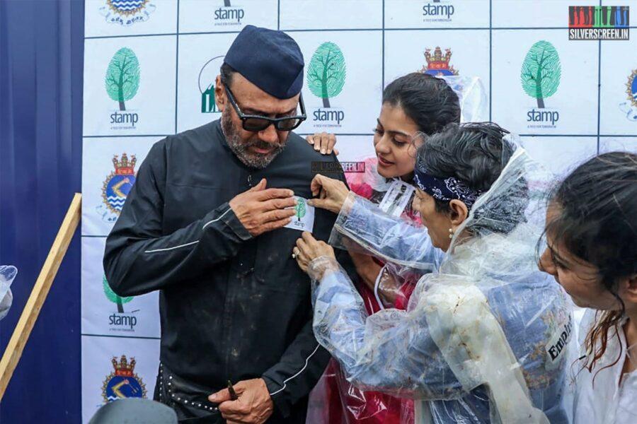 Kajol, Tanishaa Mukerji, Jackie Shroff At The Earth Renewal Project By Stamp