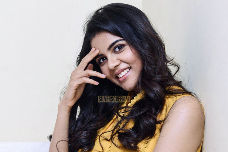 Kalyani Priyadarshan Promotes 'Ranarangam'