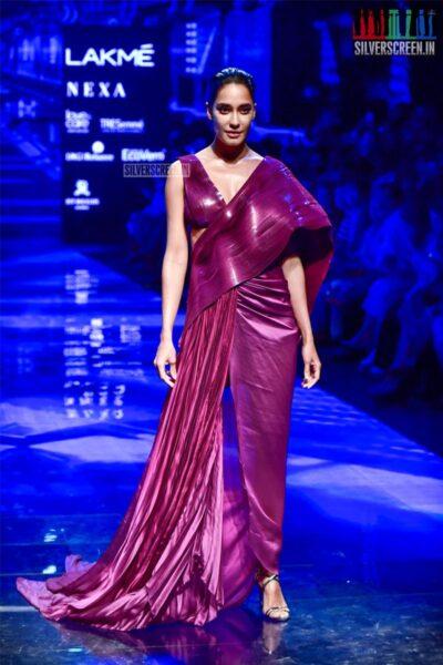 Lisa Haydon Walks The Ramp For Amit Aggarwal At The Lakme Fashion Week 2019 - Day 1