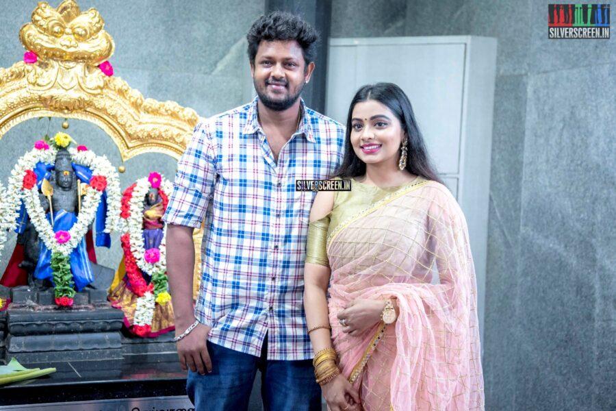 Mahesh, Anisha Xavier At The 'Thenampettai Mahesh' Movie Launch