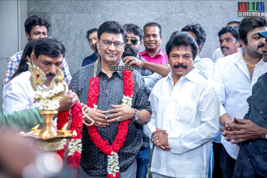 K Bhagyaraj At The 'Thenampettai Mahesh' Movie Launch