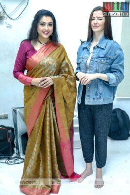 Meena, Giorgia Andriani At The 'Karoline Kamakshi' Web Series Launch