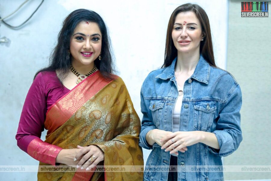 Meena, Giorgia Andriani At The 'Karoline Kamakshi' Web Series Launch