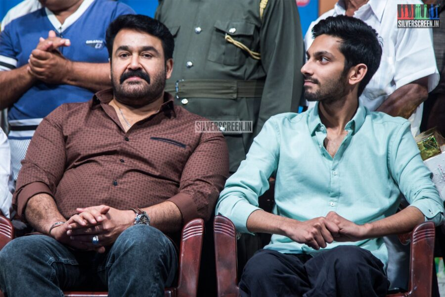 Mohanlal, Anirudh Ravichander At YG Mahendra's 100th Show Of '3 Ji' Stage Play
