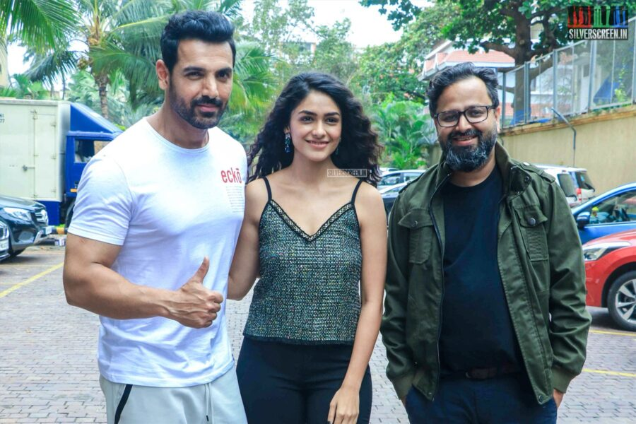 Mrunal Thakur And John Abraham Promote 'Batla House'