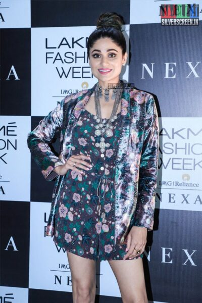Shamita Shetty At The Red Carpet Of Lakme Fashion Week 2019 - Day 1