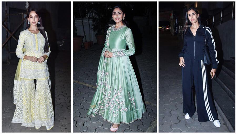 Pragya Yadav, Mrunal Thakur, Nora Fatehi At The Batla House Premiere