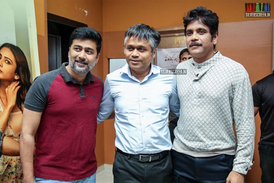 Nagarjuna At The 'Manmadhadu 2' Trailer Launch