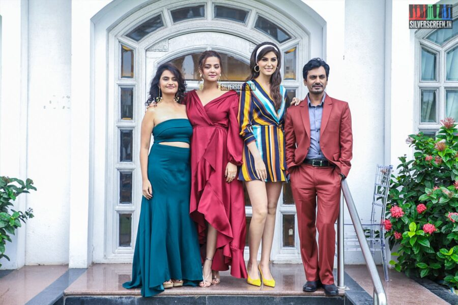 Nawazuddin Siddiqui, Surveen Chawla, Elnaaz Norouzi At A Photoshoot For Sacred Games season 2