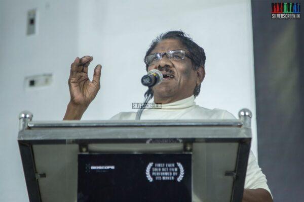P Bharathiraja At The 'Oththa Seruppu Size 7' Press Meet