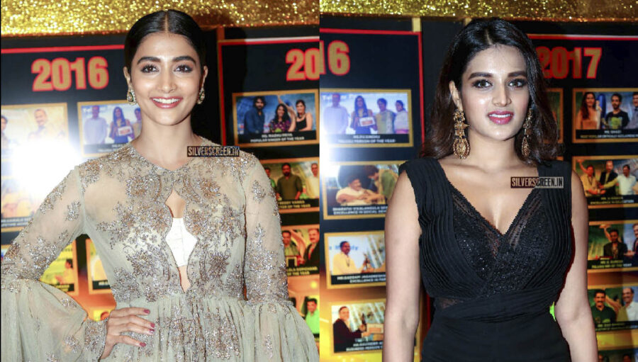 Pooja Hegde, Nidhhi Agerwal At The Sakshi Excellence Awards