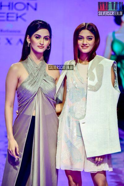 Shreya Shanker, Shivani J Jadhav Walk The Ramp For Abhishek Sharma At The Lakme Fashion Week 2019 - Day 3