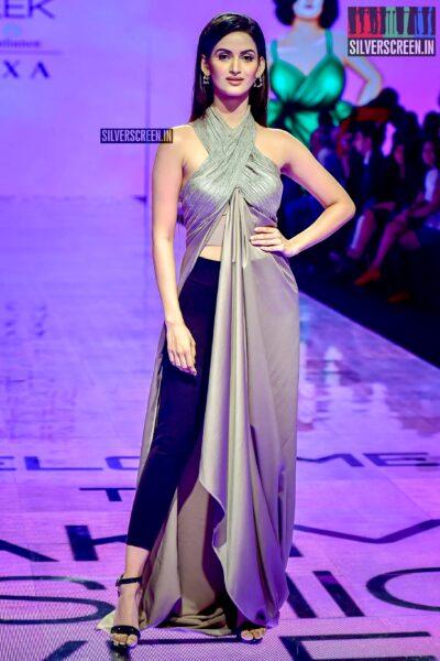 Shivani J Jadhav Walks The Ramp For Abhishek Sharma At The Lakme Fashion Week 2019 - Day 3