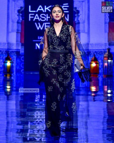 Pooja Hegde Walks The Ramp For Jayanti Reddy At The Lakme Fashion Week 2019 - Day 3