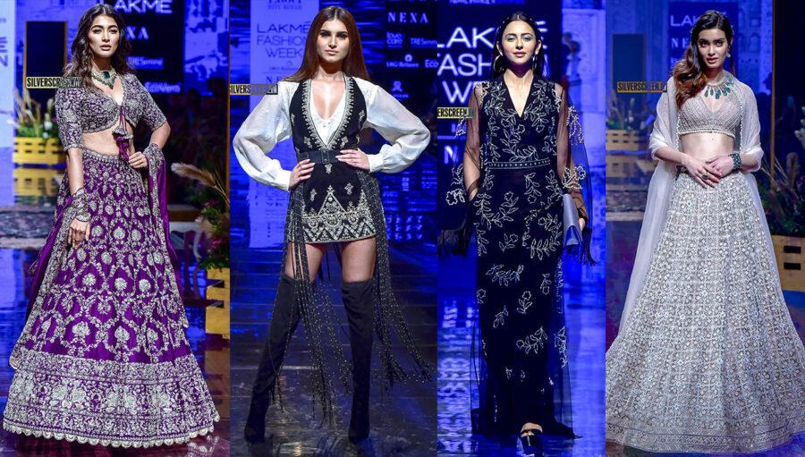 Pooja Hegde, Rakul Preet Singh, Tara Sutaria Walk The Ramp At The Lakme Fashion Week 2019 - Day 3
