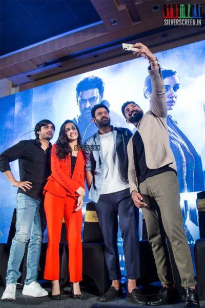 Prabhas, Shraddha Kapoor, Arun Vijay At The 'Saaho' Press Meet