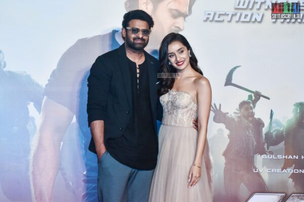 Shraddha Kapoor, Prabhas At The 'Saaho' Trailer Launch