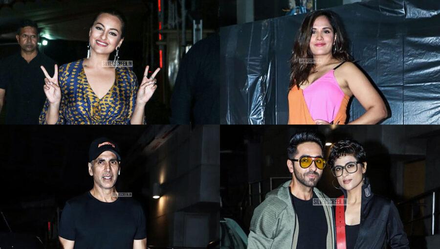 Celebrities At The 'Khandaani Shafakhana' Premiere