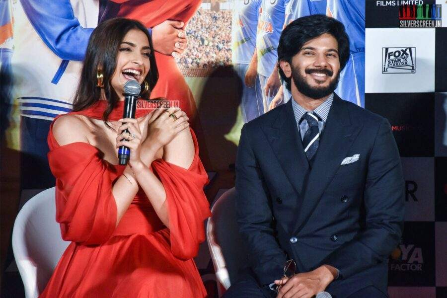 Sonam Kapoor, Dulquer Salmaan At 'The Zoya Factor' Trailer Launch