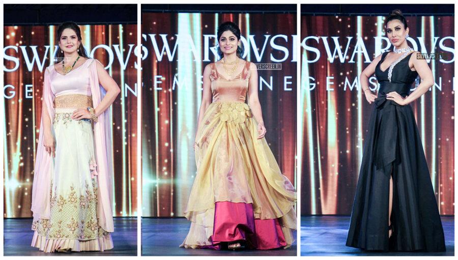 Sophie Choudry, Shamita Shetty Walks The Ramp For Swarovski