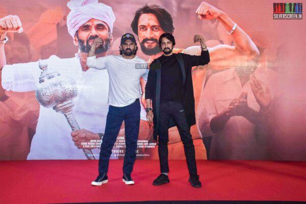 Suniel Shetty, Kichcha Sudeepa  At The 'Pehlwaan' Trailer Launch