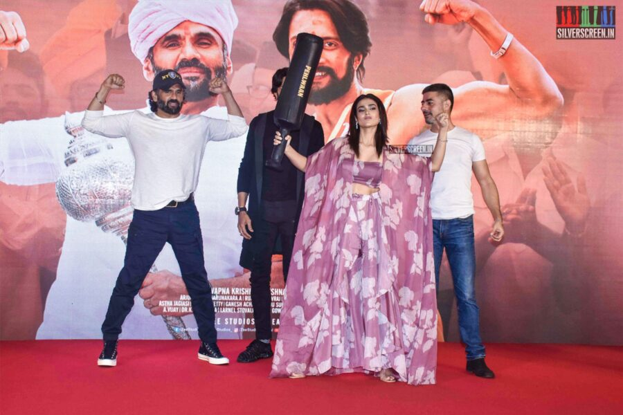 Suniel Shetty, Kichcha Sudeepa, Aakanksha Singh At The 'Pehlwaan' Trailer Launch