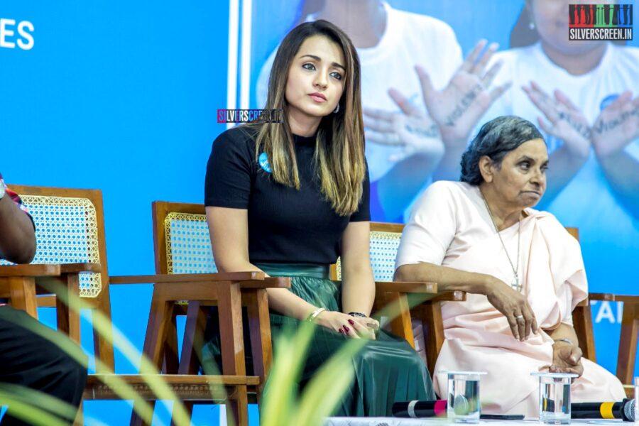 Trisha Speaks Against Child Violence At A UNICEF India Event