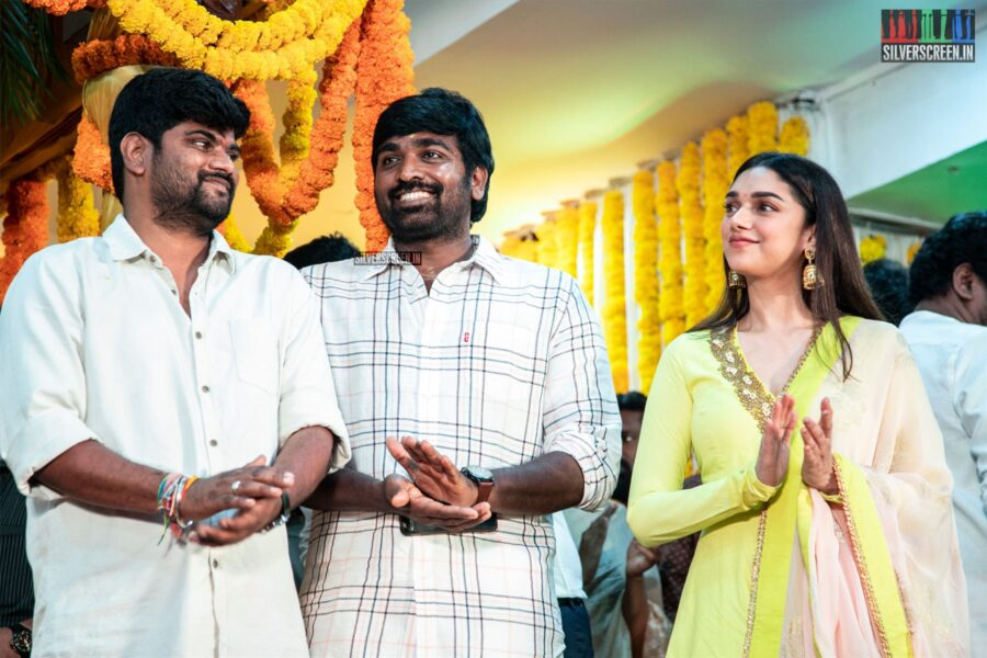 Vijay Sethupathi, Aditi Rao Hydari At The 'Tughlaq Durbar' Movie Launch