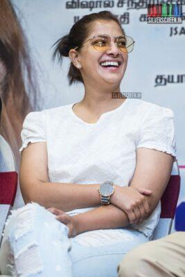 Varalaxmi At The 'Kanni Rasi' Press Meet